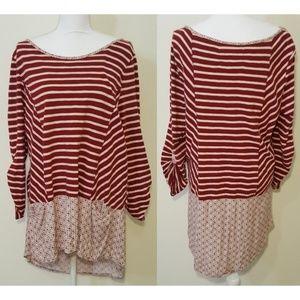 Postmark / Anthropology hi-low dress XL